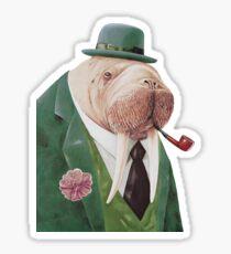 Walrus Green Sticker