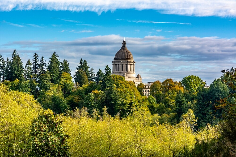 The Washington State Capitol Dome by Bryan Spellman