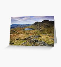 The Langdale Pikes - Cumbrian Lake District Greeting Card
