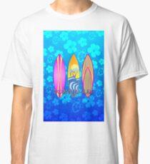 Born To Surf Blue Honu Classic T-Shirt