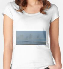 Yellowstone River Fog Women's Fitted Scoop T-Shirt