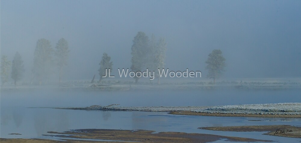 Yellowstone River Fog by JL Woody Wooden