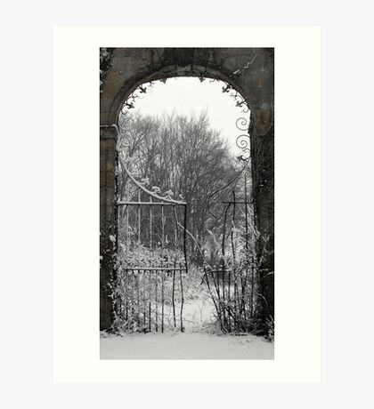 Snow arch in scotland Art Print