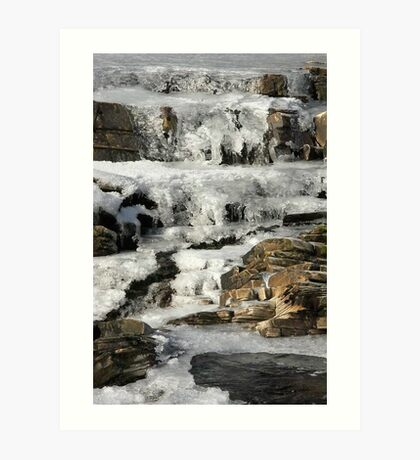 Snow  in scotland Art Print
