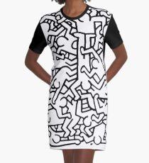 Vestido camiseta Fiesta de invitación de Keith Haring.