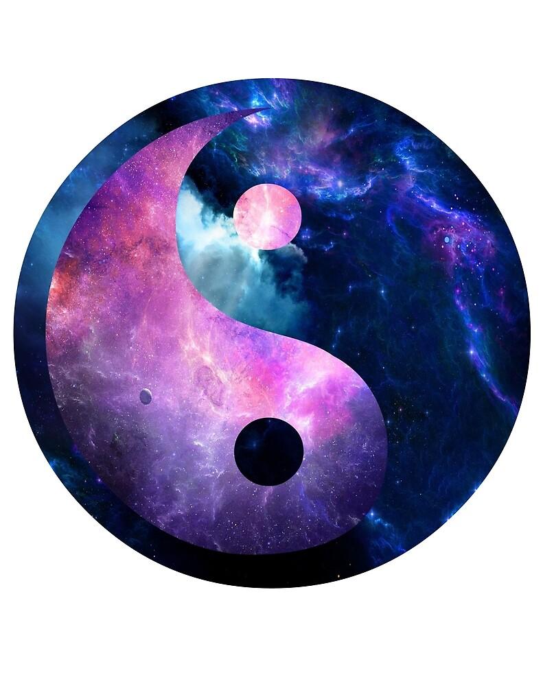 Galaxy Yin and Yang by Brooke Patterson