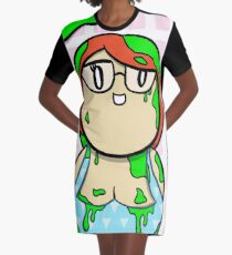 PB & Green Slime Graphic T-Shirt Dress