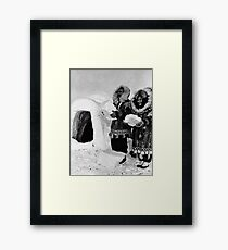 BW USA Alaska igloo builders 1970s Framed Print