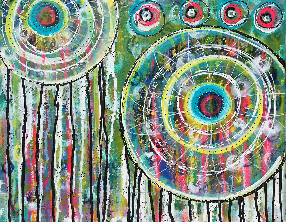 Spinning Dreams: Inner Power Painting by mellierosetest