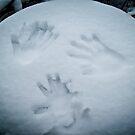 Handprints in the Snow by Lee Jones