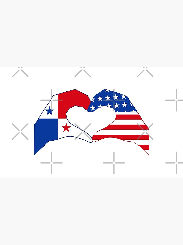 We Heart Panama & USA Patriot Flag Series by carbonfibreme