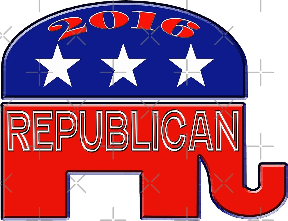 Rebulican Elephant 2016 Elections USA by Buckwhite