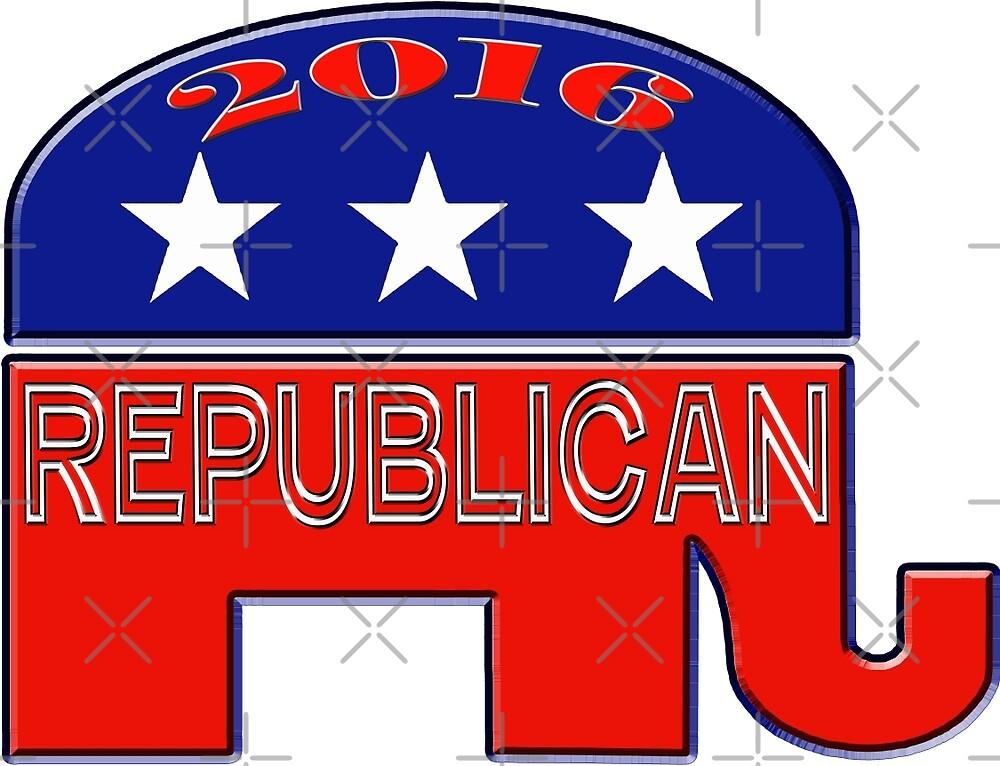 Rebulican Elephant 2016 Elections USA by Buckwhite