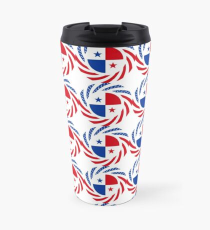 Panamanian American Multinational Patriot Flag Series Travel Mug