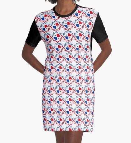 Panamanian American Multinational Patriot Flag Series Graphic T-Shirt Dress