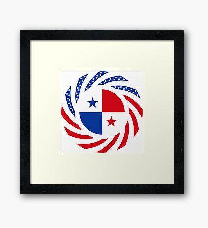 Panamanian American Multinational Patriot Flag Series Framed Print