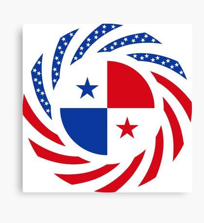 Panamanian American Multinational Patriot Flag Series Canvas Print