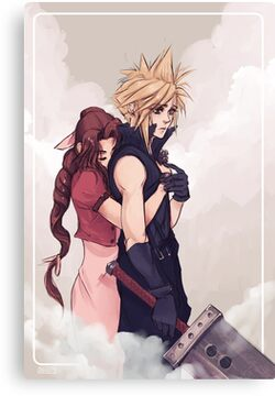 Cloud and Aerith Canvas Print