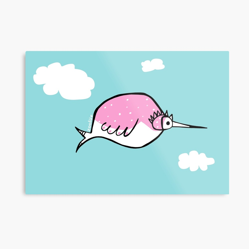 rosetta: the pink bubble bird  Metal Print