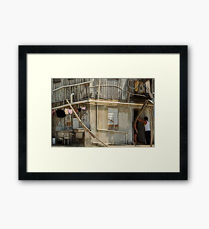 How to hang your laundry for success... Framed Print