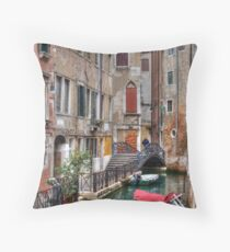 A Canal In Venice Italy Throw Pillow