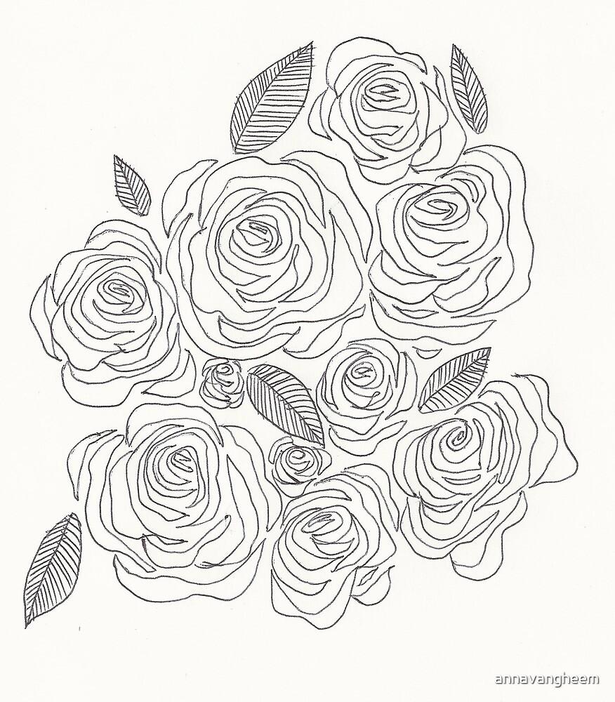 Rose Doodles  by annavangheem
