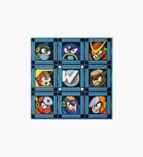 Megaman 2 Boss Select Art Board
