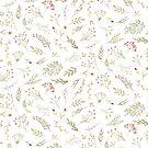 Green Flower Pattern by Tuky Waingan