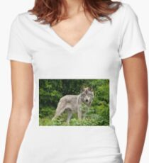 Enchanted Forest Women's Fitted V-Neck T-Shirt