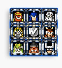 Megaman 4 Boss Select Canvas Print