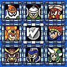 Megaman 6 boss select by Funkymunkey