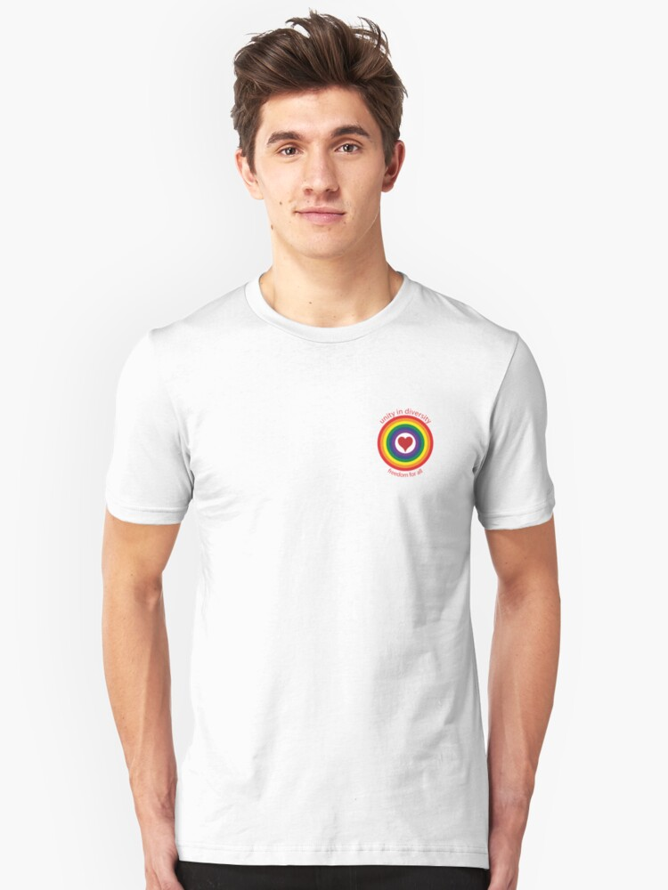 unity in diversity - small Unisex T-Shirt Front