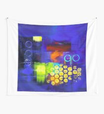 Trio - Blue Wall Tapestry