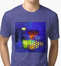 Trio - Blue Tri-blend T-Shirt