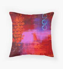 Trio - Red Throw Pillow