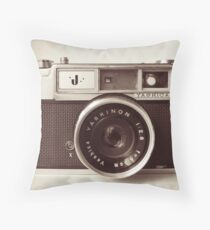 Camera Retro  Throw Pillow