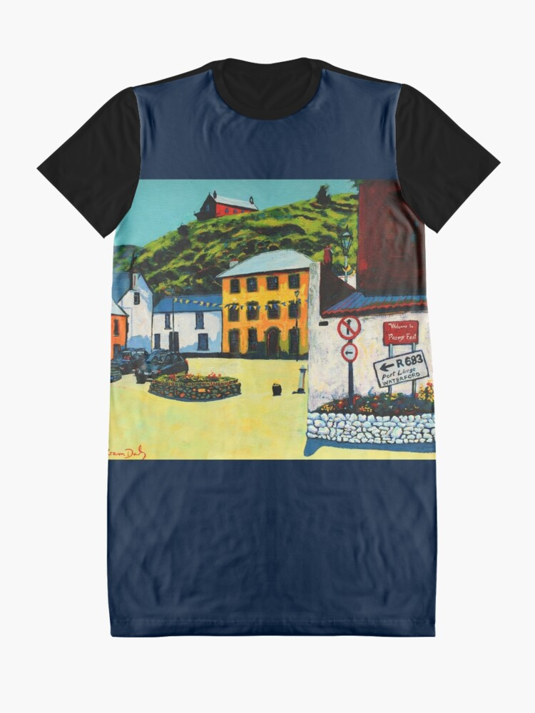 Alternate view of Passage East (County Waterford, Ireland) Graphic T-Shirt Dress