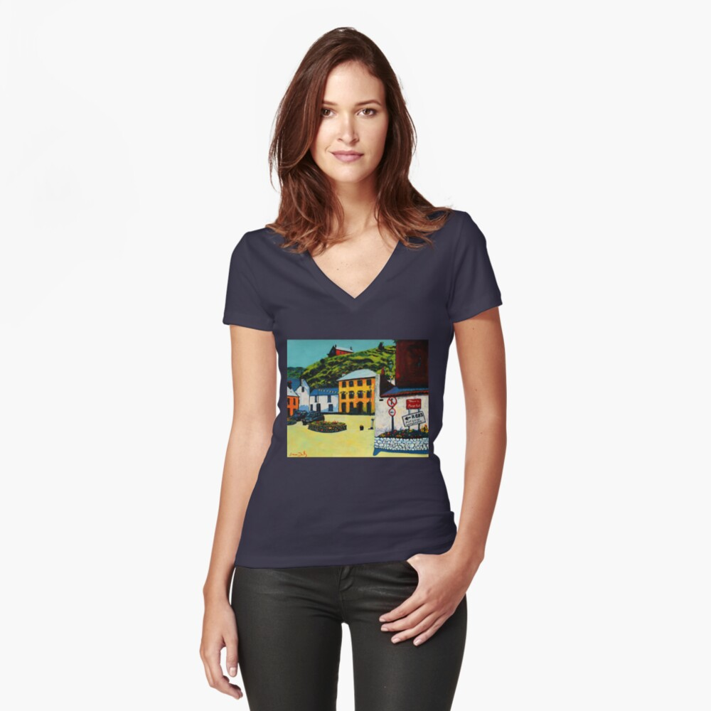 Passage East (County Waterford, Ireland) Fitted V-Neck T-Shirt