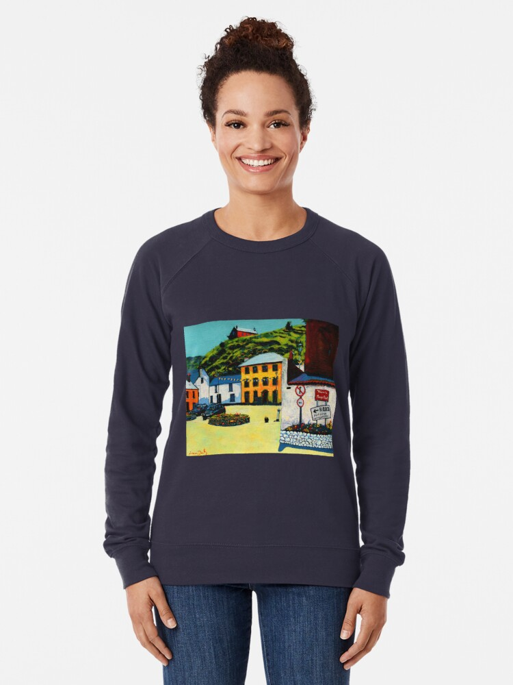 Alternate view of Passage East (County Waterford, Ireland) Lightweight Sweatshirt