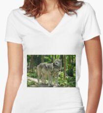Whisper Sweet Nothing - Timberwolves  Women's Fitted V-Neck T-Shirt