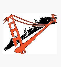 San Francisco Giants Stencil Team Colors Photographic Print