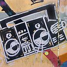 Boombox (graffiti) by Steve Campbell