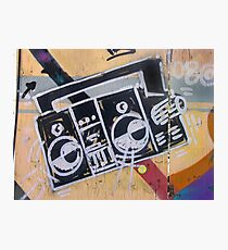 Boombox (graffiti) Photographic Print