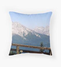 Berchtesgaden Fence Throw Pillow
