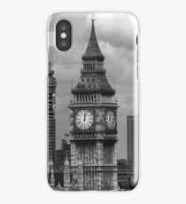 BW UK England London The post office tower Big ben 1970s iPhone Case/Skin