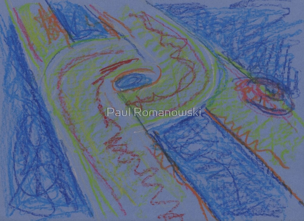 UFO HWY(SKETCH - PASTELS)(C2015) by Paul Romanowski