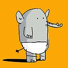 Baby Elephant in Diapers by David Barneda