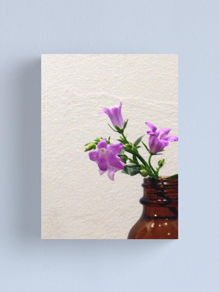 Alternate view of Bellflower Bouquet Canvas Print