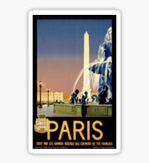 Paris Vintage Travel Poster Restored Sticker