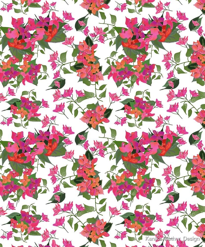 April blooms(Bougainvillea)  by Kanika Mathur  Design